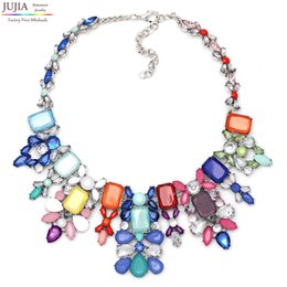 Wholesale Wholesale Nickel Free Necklace Chain - Wholesale-G1308 NEW HOT SALE trendy Fashion multi acrylic bib collar pendant Necklace & pendant nickel free