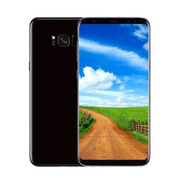 Wholesale function digital camera - S8 plus Quad core MTK6580 6.2inch 1G 8G 8MP Camera Fingerprint Iris Function 3G WCDMA unlocked phone Show Fake 4G LTE