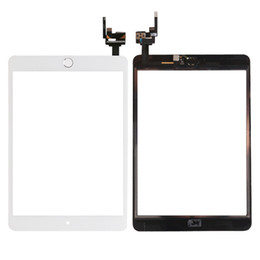 Wholesale ipad mini screen replacement wholesale - for iPad mini 3 White High Quality New Touch Screen Glass Digitizer Assembly Replacement with 3 Color Home Button & Flex Cable+ IC connector