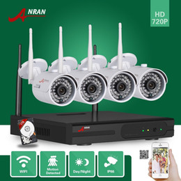 Wholesale Security System 4ch Wifi - 4CH P2P ANRAN Surveillance 720P HDMI WIFI NVR 1TB HDD 1.0MP Outdoor Waterproof IR Network Wireless IP Camera CCTV Home Video Security System