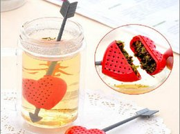 Wholesale Making Filter - 1pcs Creative Home Furnishing An arrow through the heart tea strainer Tea spoon making device bags leaf filter