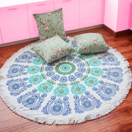 Wholesale united fiber - Europe and the United States with tassels shawl ultrafine fiber circular activity printed beach towel pattern