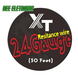 Wholesale Electronic Cigarette Rolling - Wholesale-10m roll 24G (0.51mm) Resitance Wire Heating Wires Coil Tool for DIY Rda Rba Rta Atomizer Electronic Cigarette Vaporizer