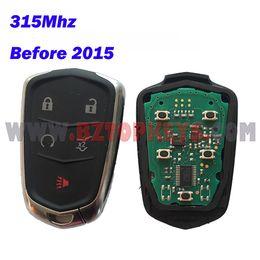 Wholesale Alarm Key Fobs - DHL Free shipping 5pcs CL0070 Remote fob alarm transmitter 5button 315Mhz for Cadillac SRX ATS XTS Keyless Fob car key