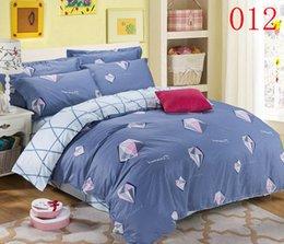 Diamond Bedroom Twin Full Queen Cotton 4pcs Bedding Set Bedclothes Sets Bed Linens Flat Sheet Quilt