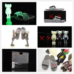 Wholesale Cheap Sandals For Summer - With Box KAWS x Airs Hydro Cool XX Retro 4 Cement Grey Night Light Suede Slippers for Cheap Sale IV 4s Sandals Slides Slipper 40-46