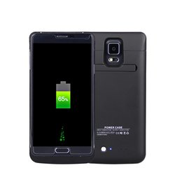 Wholesale Charging Cell Case - Charging Backup External cell Phone Battery Case For Samsung note 4 External Power Bank Battery Charger Case