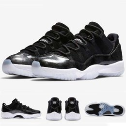 Wholesale Wrestling Shoes Mens Size 13 - With Box 2017 Mens and Women Retro 11 Low Barons 11S Black Basketball Shoes Out Door Sports Sneakers for Men Size US5.5-13 Euro 47