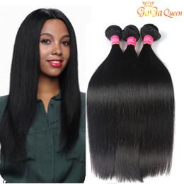 Wholesale Cheap Remy Hair Bundles - Brazilian Virgin Straight Hair Weave Bundles Cheap Peruvian Indian Malaysian straight virgin hair Remy Human Hair Extensions Natural Color