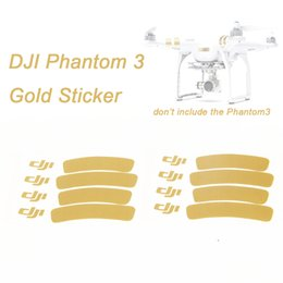 Wholesale Rechargeable Logos - Wholesale- 2Pcs Lot Decoration Strip Sticker For DJI Phantom 3 Decal Skin Ring Logo Sticker Drone with Camera RC Quadcopter Low Shipping