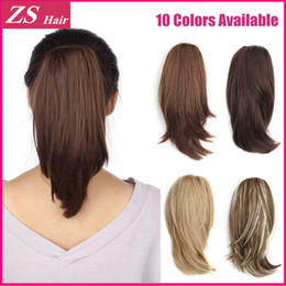 Wholesale 1pc Clip Hair Extensions - Wholesale-1PC Ponytail Claw Clip High Quality Material 120g Style Hair Short Fashion Ponytail Heat Resistance Claw Clip Ponytail Extension