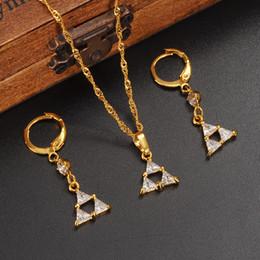 бриллиант большое ожерелье ювелирные изделия комплект Скидка Новый 18K желтый тонкий твердый Золотой заполненные ювелирные наборы большой Циркон камень CZ Алмаз имитировать кулон колье ожерелье серьги для женщин