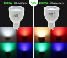 Wholesale Iphone Led Bulb - Mi Light 2.4G Led Bulbs Light GU10 4W RGB + Warm White RGB + White AC 85-265V Dimmable Wireless Wifi Colorful for Iphone Android