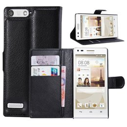 Wholesale Huawei P6 Pink - Luxury Style Flip Leather Wallet Case For Huawei Ascend G6 P6 Mini