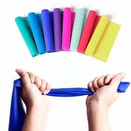 Wholesale Wholesale Exercise Stretch Bands - High Quality 1.5m Elastic Yoga Pilates Rubber Stretch Resistance Exercises Fitness Band Resistance Bands Training Expanders