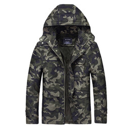 Wholesale Male Overcoat - Bomber Men Jacket Slim Fit Jackets Hoodies Camouflage Coats Overcoat Military Style Male Large Size Clothing Spring Autumn 2017