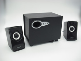 Wholesale Laptops Sold China - Hot selling in stock 2.1 Subwoofer Computer Speakers USB Home Multimedia Speakers Wooden Audio player for laptop active