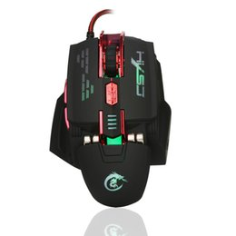 Wholesale High Definition Games - HXSJ wired high-end gaming mouse macro definition game four-color light mouse