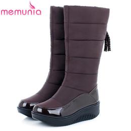 Wholesale Wedges Low Price - MEMUNIA Low price ! Plus size 35-44 new snow boots for women platform tassel slip on keep warm winter women knee high boots