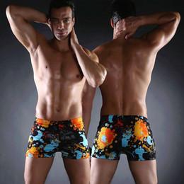 Wholesale Mens Polyester Spandex Underwear - Wholesale- Swimmart Brand Mens Swimming Shorts Spandex Polyester Mens Swimwear Swiming Trunks Swimsuit Summer Beach Brief Underwear Sexy