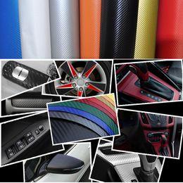 Wholesale Diy Stiker - Wholesale- High Quality Car Stiker Body DIY Fiber Vinyl Car Wrap Sheet Roll Film Waterproof Car Sticker Decals Paper Motorcycle Car-Styling