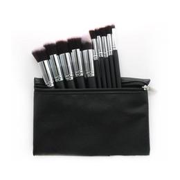 Canada Hot Maquillage Professionnel Brush set Cosmétique Fondation BB Crème Poudre Blush 10 pièces Outils de Maquillage Noir / Blanc / Rose avec Pouch DHL Offre