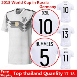 Wholesale Thai Jersey Player Version - Player version 2017 Germany OZIL MULLER GOTZE HUMMELS KROOS BOATENG REUS Soccer Wear jerseys thai quality soccer jersey football shirts