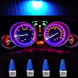Wholesale 74 Led - 100PC LOT 5050 SMD T5 74 70 37 Car Dash Wedge Dashboard Instrument LED Light BLUE 12 V DC