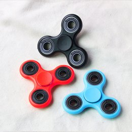 Wholesale Black Acrylic Desk - EDC HandSpinner Hand Fidget Spinner Stocks Hand Spinner Triangle Tri Fidget Acrylic Plastic Ball Desk Focus Toy Finger Spinning
