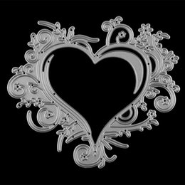 Wholesale Craft Stencils - Metal Star Heart Shape Cutting Dies Stencil For DIY Scrapbooking Album Paper Card Craft