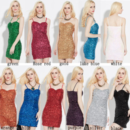 Wholesale Evening Dresses Out Shoulder - Off The Shoulder night club fashion prom mini short evening dress sexy sequins elastic condole belt of cultivate one's morality dress