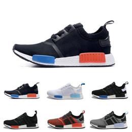 Zapatos perfectos para correr online-Calidad AAA R1 Primeknit PK Perfect Authentic Running Sneakers Moda Running Shoes Runner Primeknit Sneakers tamaño EUR36-45