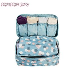 Wholesale Underwear Closet - SHUSHIRUO Band Portable Plus Size Travel Drawer Dividers Closet Organizers Bra Underwear Storage Bag Container For Women Girl