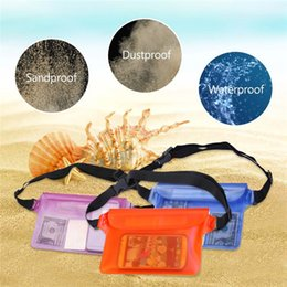 Wholesale Universal Phone Large Cases - Large Space MP4 GPS Smart Phone Universal Zipper Sealed Underwater Waterproof Sport Waist Pouch for Swimming