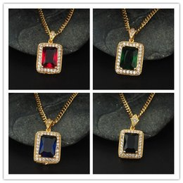 Wholesale Hiphop Jewelry Wholesale - HipHop Full of Crystal long necklaces for man and women statement jewelry four colors choose NE186