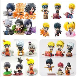 Wholesale Action Figure Madara - madara Naruto Action Figure Toys Sasuke Uchiha Madara Q Version Anime pvc Figure Toys Dolls Model Kids Best Christmas Gift