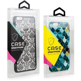 Wholesale Transparent Pvc Plastic Blister - PVC Transparent Plastic Retail Package Box with Blister inner holder Colorful Hanger Box Phone Leather Case For iphone X 8 6S 7 Samsung S7