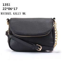Wholesale Famous Message - Women fashion bag famous brand MICHAEL KALLY MK handbag PU leahter chain bag clutch lady message tote bags one shoulder handbags purse 1351