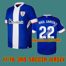 Wholesale Polyester Short Sleeve Shirts - Top quality Athletic Club Bilbao Home Soccer Jersey 17 18 Athletic short sleeve soccer shirt 2018 Bilbao Football uniforms Sales