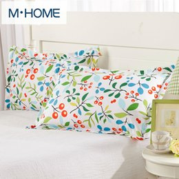 Wholesale Hospital Setting - Wholesale- New One  Two Pillow Case 100% Cotton decorative pillowcases Flowers pillow case  capa Printing Brief Style Bedding Set 48x74cm