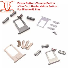 Wholesale Volume Settings - For iPhone 6s Plus Power Volume Buttons Sets Sim Card Holder Tray Slot Mute Side Button Set Parts For Apple 5.5 inch