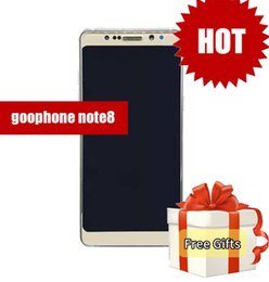 Wholesale Cheap Chinese 3g Phones - Top quality goophone note 8 5.7inch Edge Curved smartphone Android 7.0 Quad Core shown 3G RAM 64G ROM cheap china phones