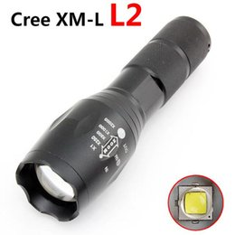 Wholesale Powerful Rechargeable Torch - 2017 Updated E17 Cree LED Flashlight Waterproof Zoom Powerful XML L2 5-Mode Lamp Camping Torch By AAA or 18650 Rechargeable Battery