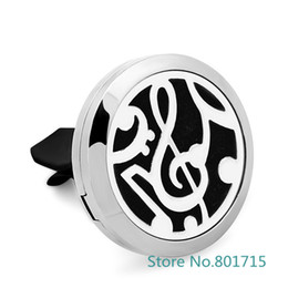 Wholesale Magnetic Hot Plate - Hot Sale Essential Oil Car Diffuser Locket Vent Clip 316 L Stainless Steel Pendant Perfume locket Magnetic Random Send 5pcs Oil Pads as Gift
