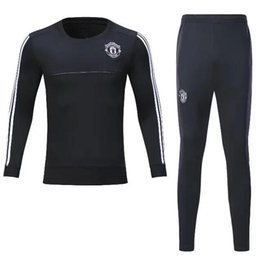 Wholesale Football Training Pants Tight - high quality 2017 2018 Survetement football man tracksuit training kits Soccer jersey 17 18 united training shinny tight pant sweater suit