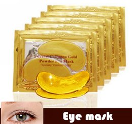 Wholesale Crystal Golden Collagen Eye Mask - Free DHL FEDEX  EMS Anti-Wrinkle NEW Crystal Collagen Gold Powder Eye Mask Golden Mask stick to dark circles