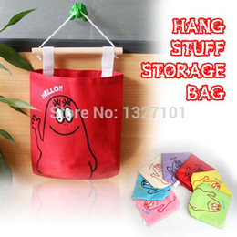 Wholesale Decorative Wall Hangings Fabric - Colors Cute Hang Up Storage Bag Wall Decorative Stuff Storage Organizer