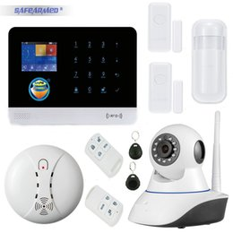 Wholesale Alarm System Best - Best G6 App control sms call GSM alarm system with door window sensor open reminder infrared pir detector IP camera