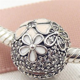 Wholesale Glass Beads Fit Pandora - 2017 Spring 925 Sterling Silver Poetic Blooms Clip Charm Bead with Cz Fits European Pandora Jewelry Bracelets Necklaces & Pendant