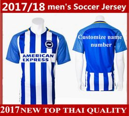 Wholesale Customized Name - new top Thai quality 2017 2018 Brighton soccer jerseys 17 18 Brighton & Hove Albion home away football shirts Customize name number uniforms